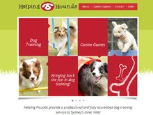 CMS Website Design testimonial for Helping Hounds