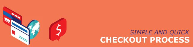 Ecommerce website design tips - easy checkout process