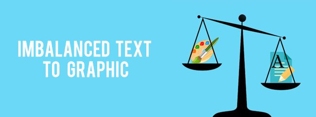 imbalanced-text-graphic-ratio scales