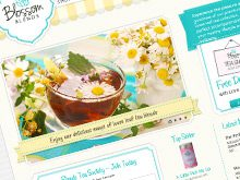 Ecommerce Web Design for Blossom Blends