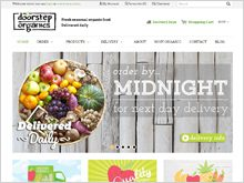 Door Step Organics ecommerce website